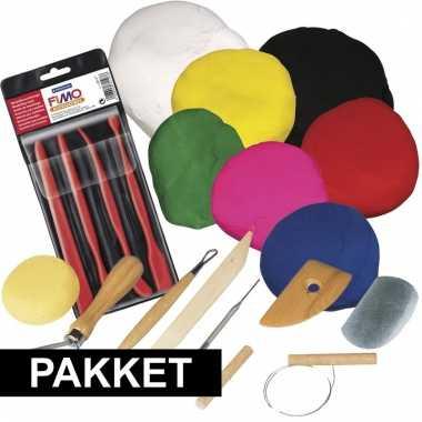 Groothandel klei speelgoed pakket met boetseerpasta en gereedschap ko