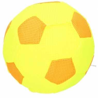 Groothandel knalgeel met oranje soft mesh play ball for kids 23 cm me