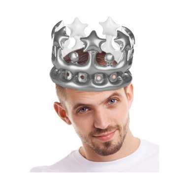 Groothandel koning voor een dag kroon zilver speelgoed kopen