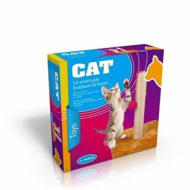 Groothandel krabpaal voor katten kittens beige speelgoed