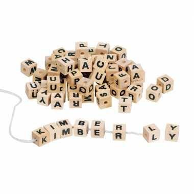 Groothandel letter dobbelsteentjes naturel hout speelgoed kopen