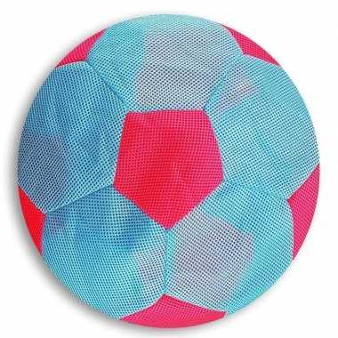 Groothandel licht blauw met roze mesh speelgoed bal voor kinderen 23