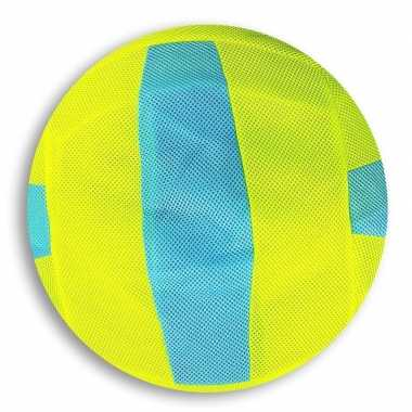 Groothandel lime groen met blauw gestreepte mesh speelgoed bal voor k