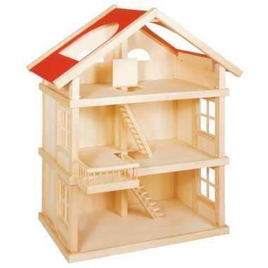 Groothandel luxe houten poppenhuis met 3 etages speelgoed kopen