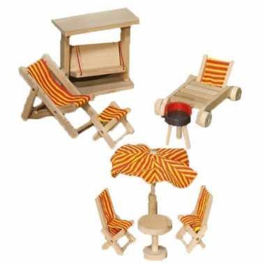 Groothandel luxe houten poppenhuismeubeltjes tuin speelgoed kopen
