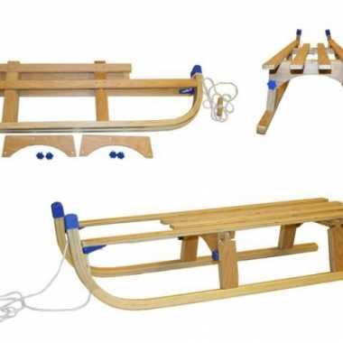Groothandel luxe houten slee opvouwbaar speelgoed kopen