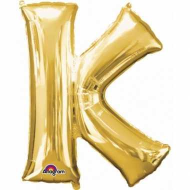 Groothandel mega grote gouden ballon letter k speelgoed kopen