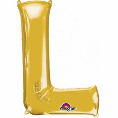 Groothandel mega grote gouden ballon letter l speelgoed kopen