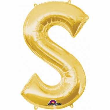 Groothandel mega grote gouden ballon letter s speelgoed kopen