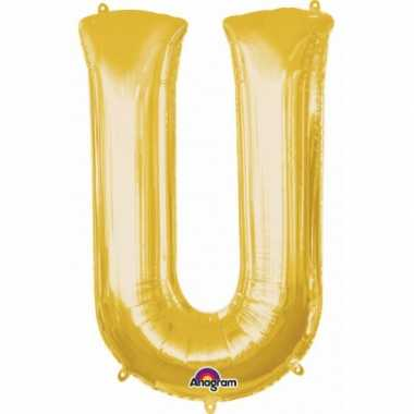 Groothandel mega grote gouden ballon letter u speelgoed kopen