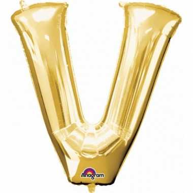 Groothandel mega grote gouden ballon letter v speelgoed kopen