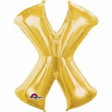 Groothandel mega grote gouden ballon letter x speelgoed kopen