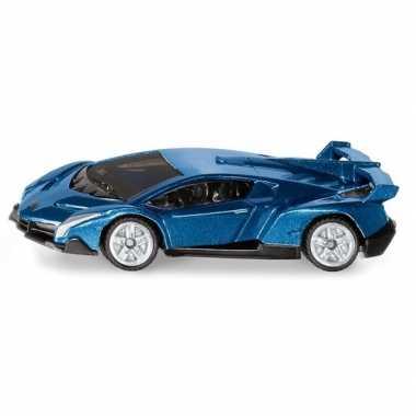Groothandel metallic blauwe siku lamborghini veneno speelgoedauto kop
