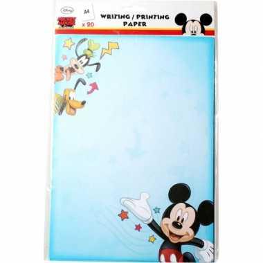 Groothandel mickey mouse a4 papier 20 vellen speelgoed kopen