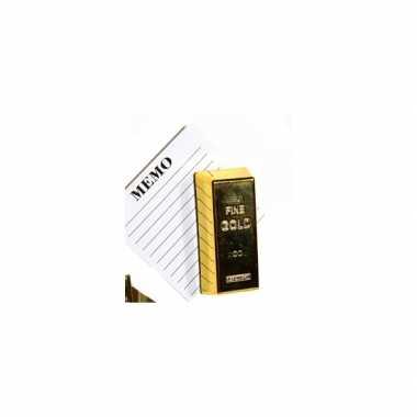 Groothandel mini magneetjes goudstaaf 6 x 2 cm speelgoed kopen
