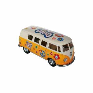 Groothandel modelbusje vw t1 geel hippie 12,5 cm speelgoed kopen