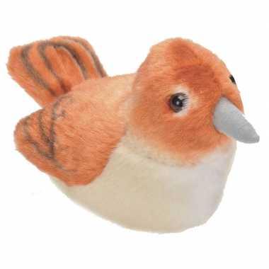 Groothandel nachtegaal vogeltje met geluid van pluche 13 cm speelgoed kopen
