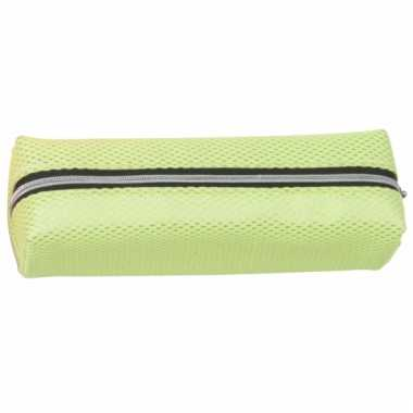 Groothandel neon groene pennen etui 19 cm speelgoed kopen