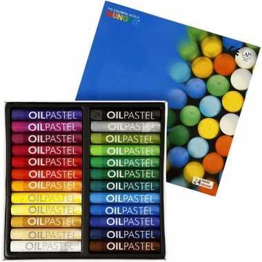 Groothandel oliepastel kleurtjes 24 stuks speelgoed kopen