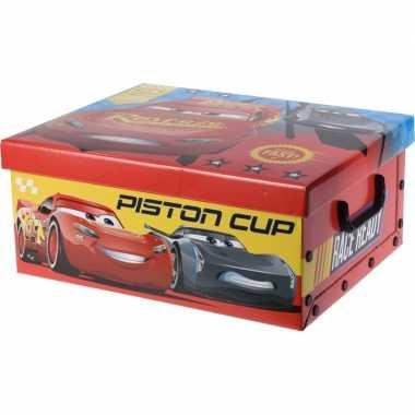 Groothandel opbergbox/opbergdoos cars rood 37 cm speelgoed kopen