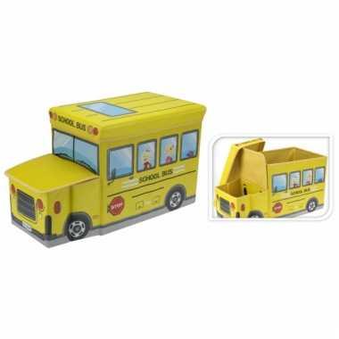 Groothandel  Opbergdoos schoolbus 55 cm speelgoed kopen