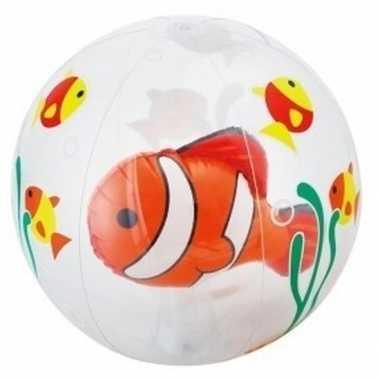 Groothandel opblaas doorzichtige strandbal met vissen 61 cm waterspee
