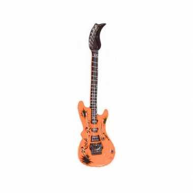 Groothandel opblaas elektrische gitaar oranje speelgoed kopen