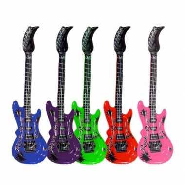 Groothandel opblaas elektrische gitaar rood speelgoed kopen