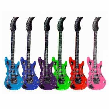 Groothandel opblaas elektrische gitaar roze speelgoed kopen