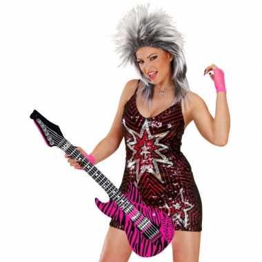 Groothandel opblaas gitaar met roze zebra print speelgoed kopen