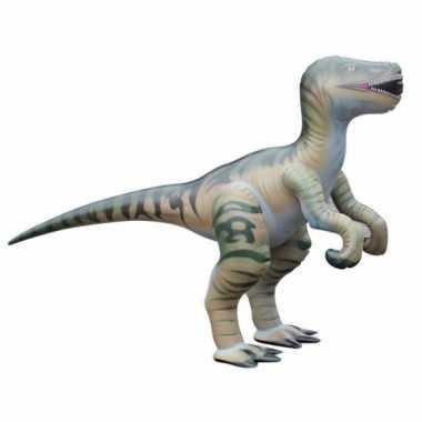 Groothandel opblaas velociraptor dino bruin 130 cm speelgoed