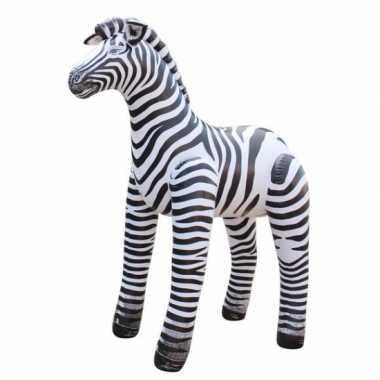 Groothandel opblaas zebra zwart/wit gestreept 81 cm speelgoed kopen