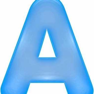 Groothandel opblaasbare letter a blauw speelgoed