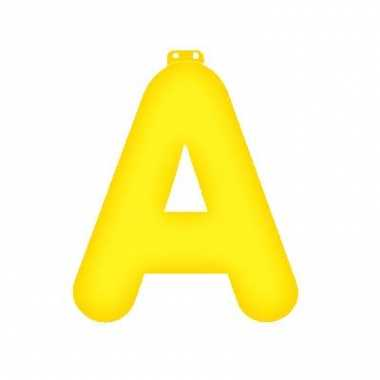 Groothandel opblaasbare letter a geel speelgoed
