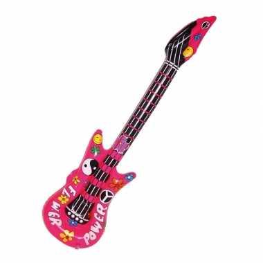 Groothandel opvallende flower power gitaar 105 cm speelgoed kopen