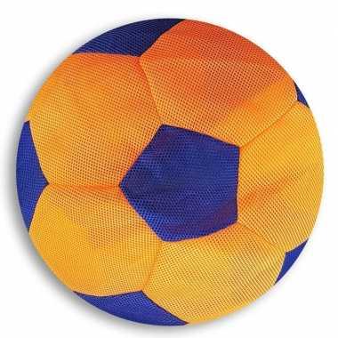 Groothandel oranje met blauwe mesh speelgoed bal voor kinderen 23 cm