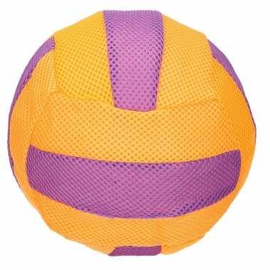 Groothandel oranje met paars mesh speelgoed bal voor kinderen 23 cm k