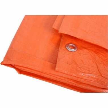 Groothandel oranje zeildoek 4 x 6 meter speelgoed
