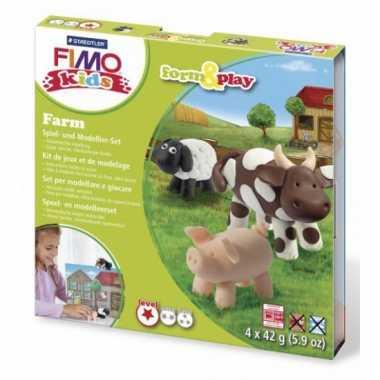 Groothandel oven verhardende klei pakket boerderij speelgoed kopen