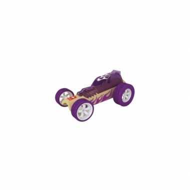 Groothandel paarse raceauto bamboe 8 cm speelgoed