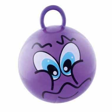 Groothandel paarse skippybal met grappig gezicht 45cm speelgoed kopen