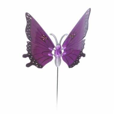 Groothandel paarse tuinvlinder op stok 20 cm speelgoed kopen