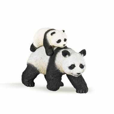 Groothandel panda met baby speeldiertje 8 cm speelgoed kopen