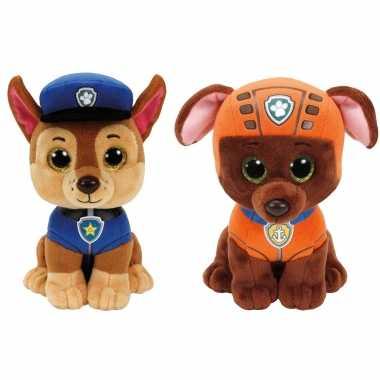 Groothandel paw patrol knuffels set van 2x karakters chase en zuma 15 cm speelgoed kopen