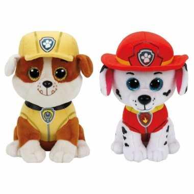 Groothandel paw patrol knuffels set van 2x karakters rubble en marshall 15 cm speelgoed kopen