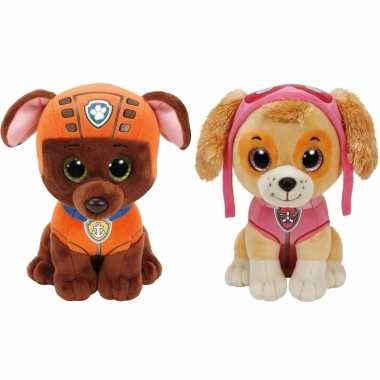 Groothandel paw patrol knuffels set van 2x karakters zuma en skye 15 cm speelgoed kopen