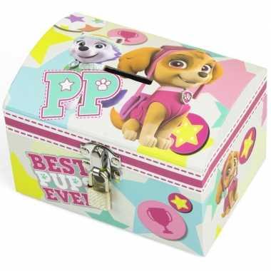 Groothandel paw patrol skye en everest mint/roze speelgoed spaarpot m