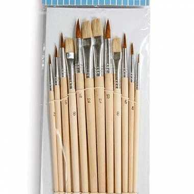 Groothandel penselen set 12 stuks speelgoed kopen