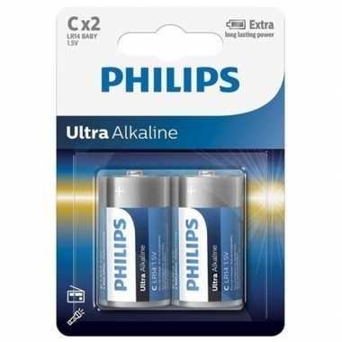 Groothandel phillips long life batterijen r14 1,5 volt 2 stuks speelg