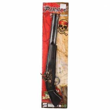 Groothandel piraten pistolen zwart/goud 48 cm speelgoed kopen